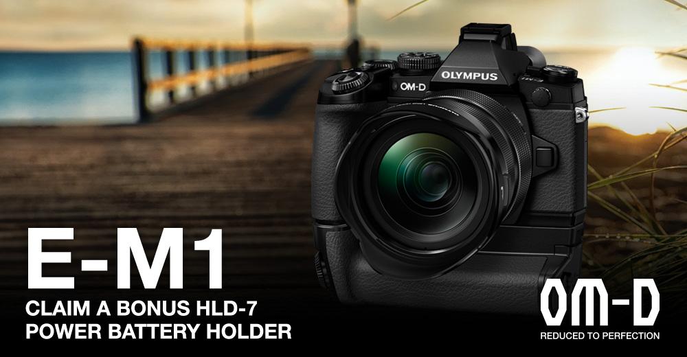 Olympus E-M1_HLD-7 Promotion